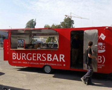 משאית האוכל האדומה של BURGERSBAR