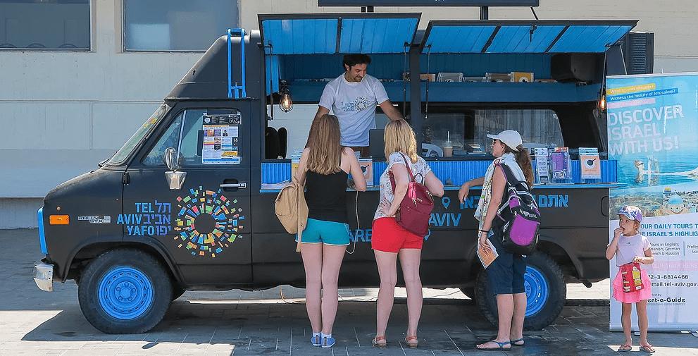 משאית מידע עיריית תל אביב